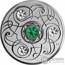 MAY Birthstone Swarovski Crystal Silver Coin 5$ Canada 2020
