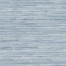 Nautical Seaside Blue Faux Grasscloth Wallpaper PA34213