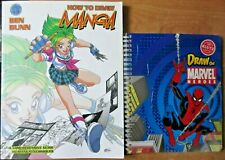 Lot of 2:  How to Draw Manga and Draw the Marvel Heroes