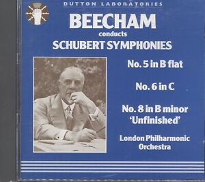 Schubert;Beecham Conducts CD