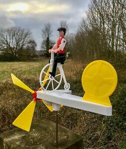 Cyclist - Wind spinner - Whirligig - Garden Windmill - Mecnov Bikeswell