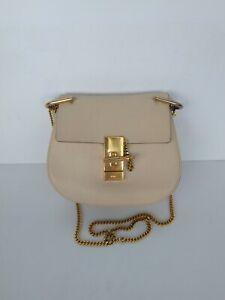 100% Authentic CHLOE Drew Crossbody bag Ivory leather Mini size