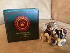 Boyds Bears & Friends Bearstone Collection Cookie the Santa Cat Figurine