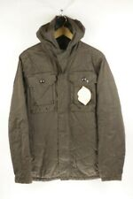 Mens G STAR Jacket Coat RAW ARMY MILITARY Hooded SLIM Brown XL VERY GOOD UP2RL