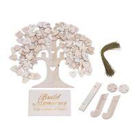 Libro degli ospiti di famiglia albero di nozze, 3D in legno Guest Sign Book T6W9