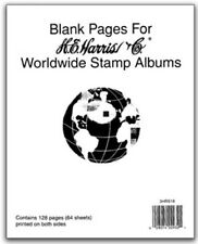 He Harris Blank Pages Worldwide Stamp Album Pages 64 Sheets New