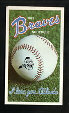 Atlanta Braves--1979 Pocket Schedule--Crown