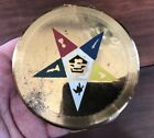 """Dorset - Fifth Ave Eastern State Masonic Gold Tone Compact, 3 3/4"""""""