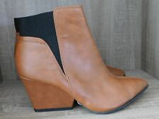 Sole diva ankle boots brown uk size 5EEE wide fitting ref box 201
