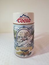 """1992 COORS BEER STEIN """"THE ROCKY MOUNTAIN LEGEND"""" Running the Rapids man cave"""