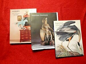Sotheby's Important Americana, Fine Americana Auction Catalogs 1992, 1996, 1998