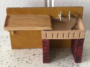 Dolls house miniature 1:12 sink unit + draining board
