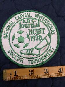 National Capital Invitational Soccer Tournament Patch WBC Journal NCIST 1978