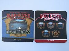 Beer Coaster ~ MAD RIVER Brewing Co River Days IPA ~ Humboldt County, CALIFORNIA