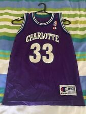 Vintage NBA Alonzo Mourning Jersey - Charlotte Hornets - Champion Youth M 10-12