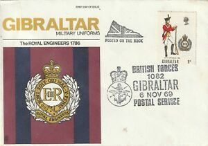 1969 Gibraltar FDC cover Military Uniforms - The Royal Engineers