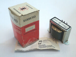 HAMMOND 117G16 AUDIO SOUND DISTRIBUTION LINE MATCHING TRANSFORMER 70V 16W, NEW