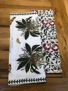 6 NEW PORTMEIRION NAPKINS AND TWO USED TEA TOWELS
