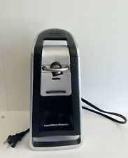 Hamilton Beach 76607 Smooth Touch Electric Can Opener Black Silver Excellent