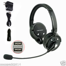 A2DP Noise Cancelling Stereo Bluetooth Headset Mic for Trucker Driver PS3 iPhone