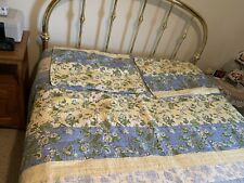Floral Multicolored Queen Quilt With 2 Shams Pre-owned