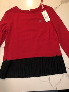 Vineyard Vines Fashion Knits Red Mixed Media Top Girls Sz L(14) New