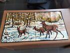 Vintage Wall Tapestry/Rug Buck,Deer,Snow 38x20