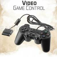 Black Twin Shock Video Game Controller Joypad Pad for Sony PS2 Playstation 2