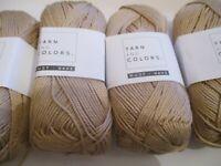 Joblot 10 x 50g 100% Mercerised Cotton Yarn Size 3.5mm Needles Limestone