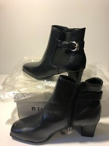 Brand New W/ Box, Etienne Aigner Womens Leather Chelsea Boots.  Black Size 6.5