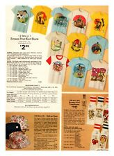 1970's Youth Graphic T Shirt's Retro Fashion Print Ads Clippings Vintage