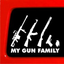 My Gun Family Stick Figure Family car truck decal bumper Funny