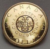 🍁 Canada 1964 Elizabeth II $1. Voyageur Dollar 80% Silver Dollar, Uncirculated!