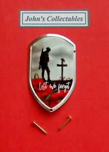 COLLECTABLE LEST WE FORGETWALKING / HIKING STICK BADGE/ MOUNT NEW IN PACKET 2