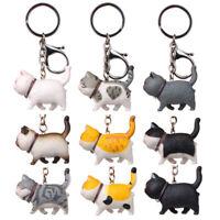 Cartoon Kitten Cat Keychain Series Fat Japanese Cat Keychain Car Bag Keyring UK