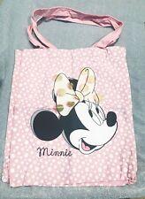 Fashion Pink Cartoon Disney Mickey Mouse Cotton Tote Shopper School Library Bag