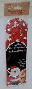 Message To Santa Door Hanger Santa Please Stop Here This Room Belongs To Sign