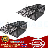 2x Metal Rat Catcher Spring Cage Mouse Trap Humane Large Animal Rodent UK