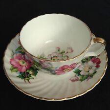 "Howard Stuart ""Estrucean Art "" pottery teacup and saucer fine china,"