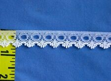 "Scalloped Lace Trim Beading Lace Trim Edging 5/8"" White 10 yds #W33"