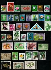 40 x Stamps of Flowers from around the World