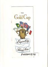 1947 GOLD CUP Program STYMIE GALLORETTE ASSAULT TC winner 3 Hall of Fame Horses