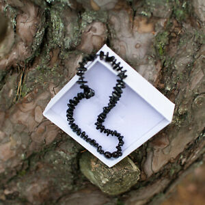 Natural Baltic Amber Dark CherryNecklace For Children With Gift Box