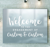 Personalised Engagement Frame Custom Welcome Decor Mirror Sticker Vinyl Decal
