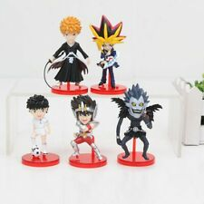 SET 5 Figuras Anime: Death Note, Saint Seiya, Capitan Tsubasa, Bleach, Yu-gi-oh