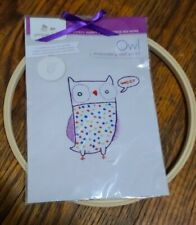Owl Embroidery Wall Art Kit. Brand new. Beginner skill level.. Ages 13+