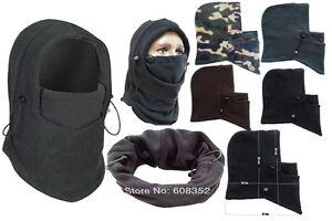 Thermal Fleece Balaclava Neck Hood Police Swat Ski Bike Wind Stopper Face Mask