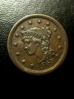 1853 Braided Hair Large Cent UNC MS Uncirculated Beautiful SHARP Penny Variety