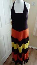 Maria's boutique dress orange brown yellow looped design bnwt size 14 freestyle