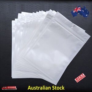 White Resealable Plastic Bags Retail Packaging With Hang Hole Various Sizes